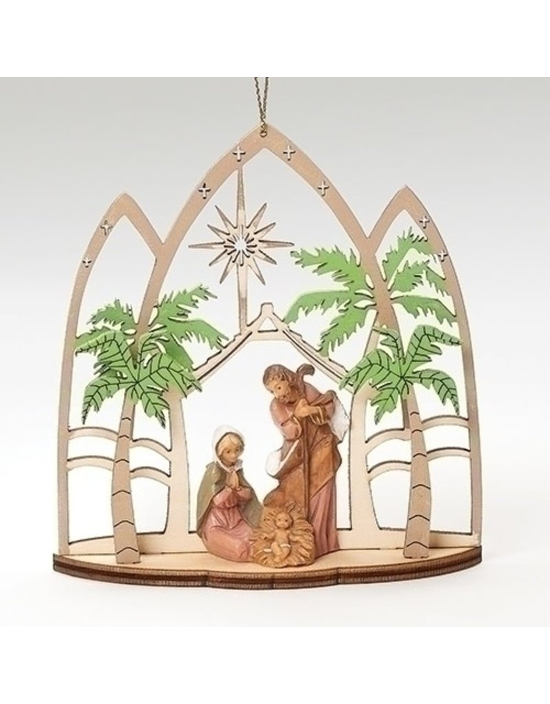 Fontanini Lasercut Holy Family Triptych Ornament