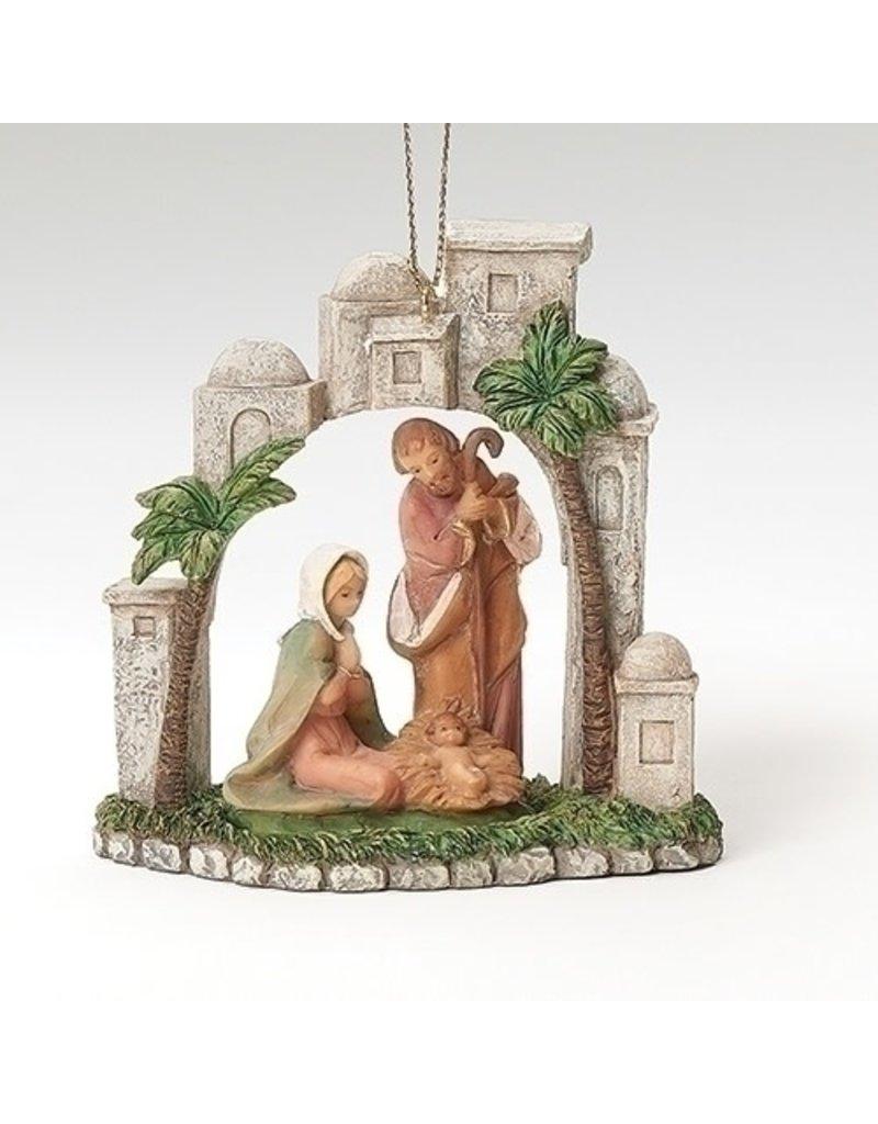 Fontanini Holy Family in Bethlehem Ornament