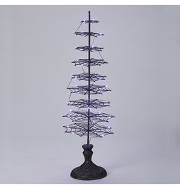 Lit Spiderweb Tree