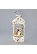 Birch Snowman Lantern