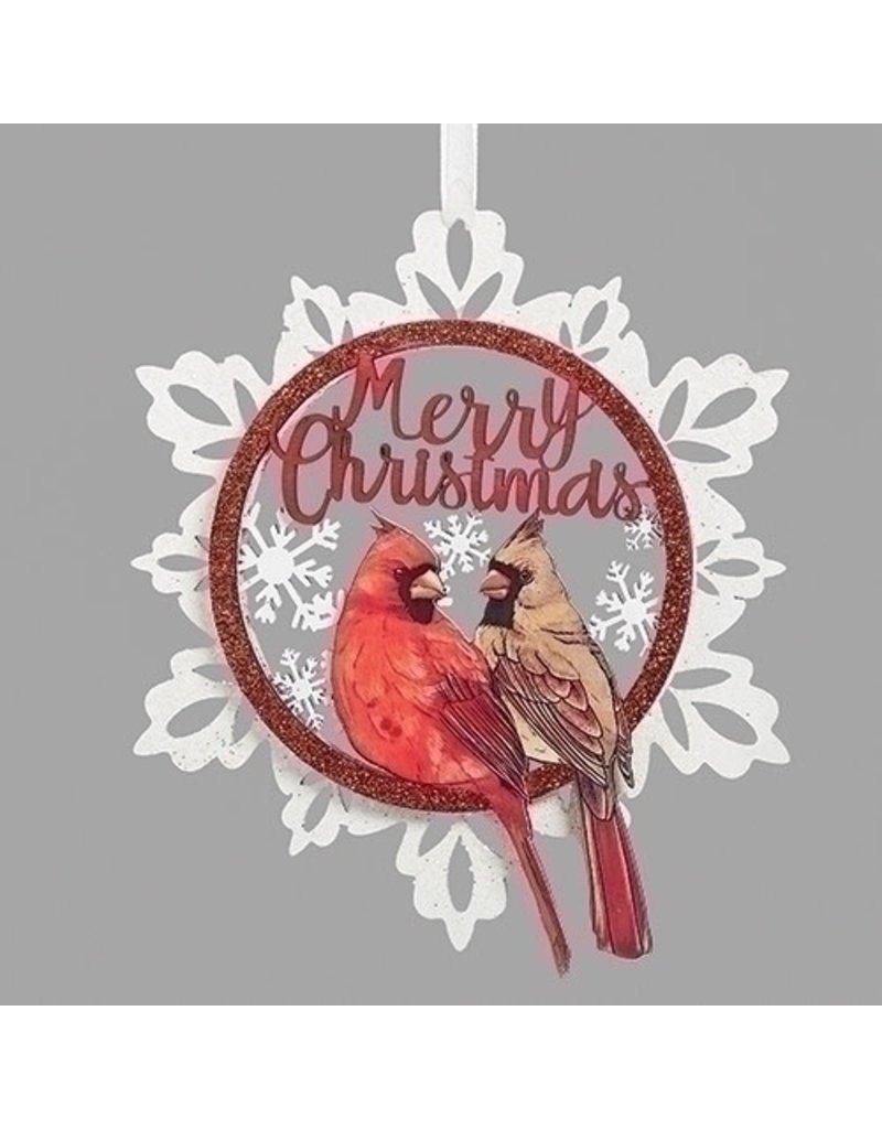 Merry Christmas Cardinal Snowflake
