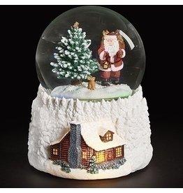 Santa's Cabin Snowglobe