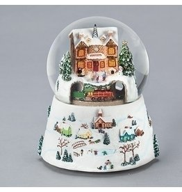 North Pole Train Station Snowglobe