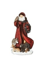 Jubilant Santa with Animals