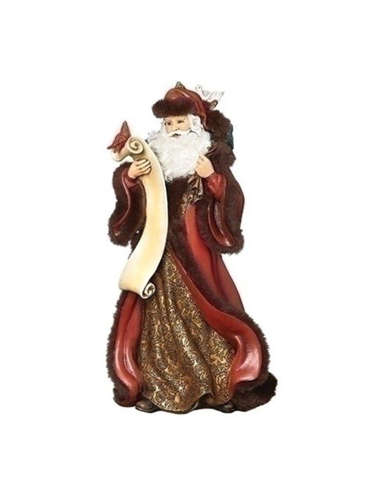 Jubilant Santa with List