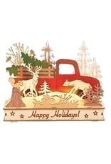Woodworks Lit Red Truck
