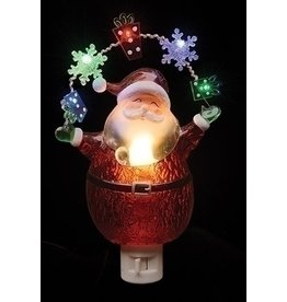 Santa Snowflake Night Light