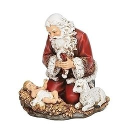 Kneeling Santa with Lamb