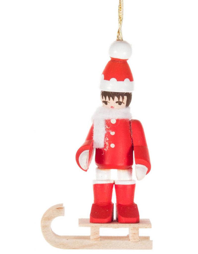 Red Winter Child Ornament