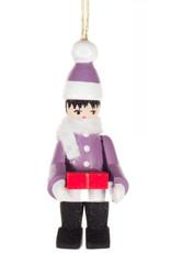 Purple Winter Child Ornament