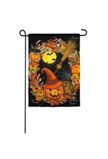 Halloween Wreath Garden Flag