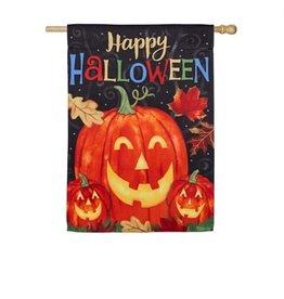Haunted Halloween House Flag