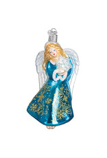 Old World Christmas Glistening Snowflake Angel