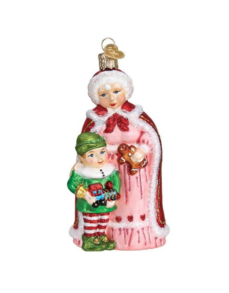 Old World Christmas Mrs.Claus with Elf