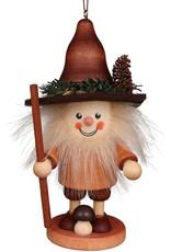 Wood Mushroom Man Ornament