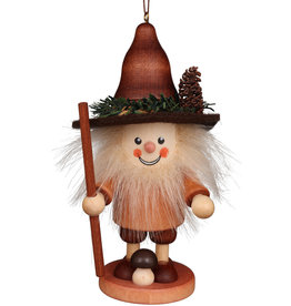 Wood Mushroom Man Ornament