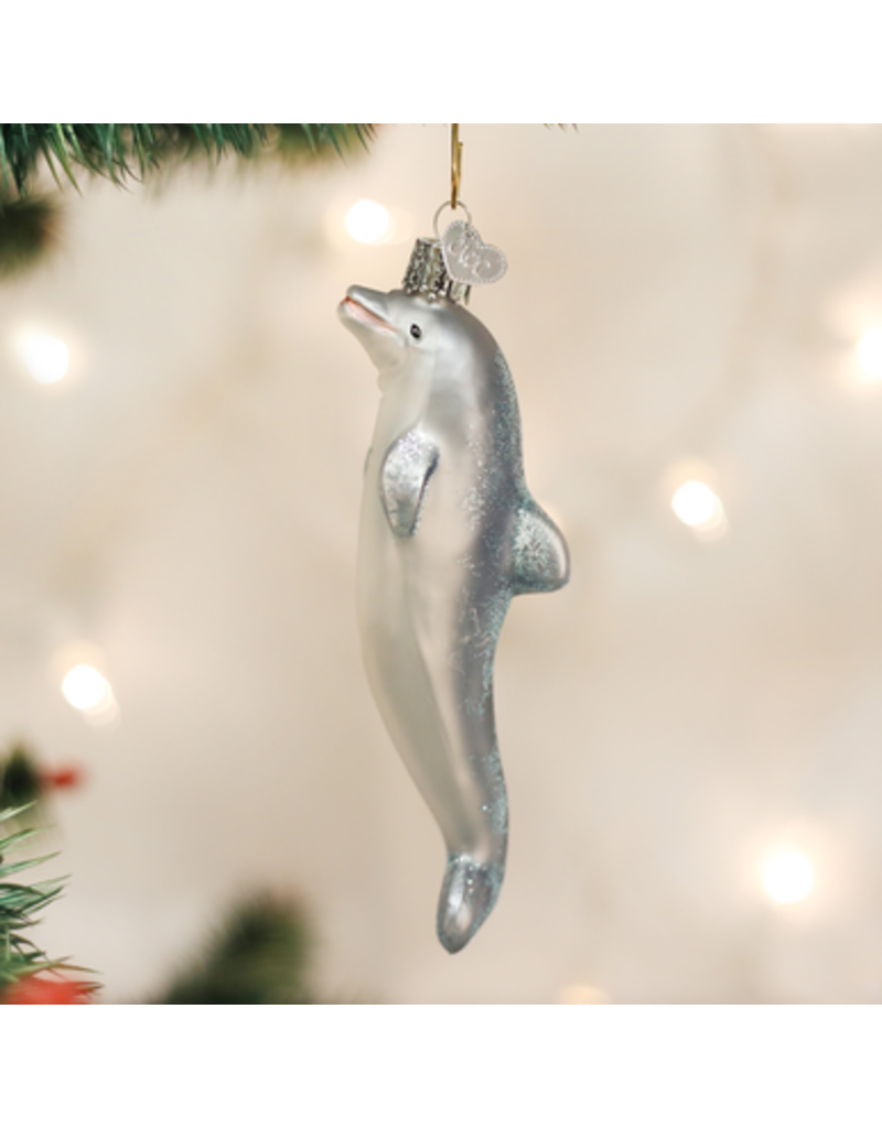 Old World Christmas Playful Dolphin