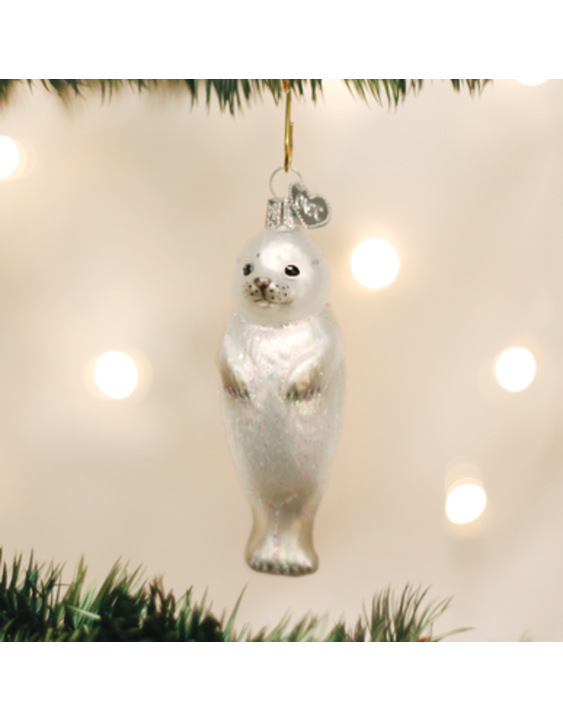 Old World Christmas Seal Pup