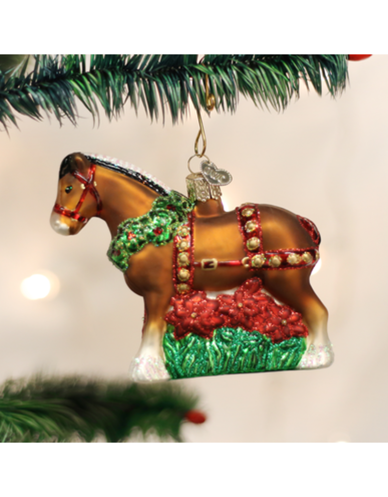 Old World Christmas Holiday Clydesdale
