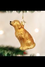 Old World Christmas Sitting Golden