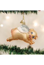 Old World Christmas Flying Pig