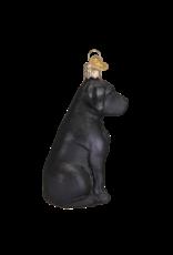 Old World Christmas Black Labrador