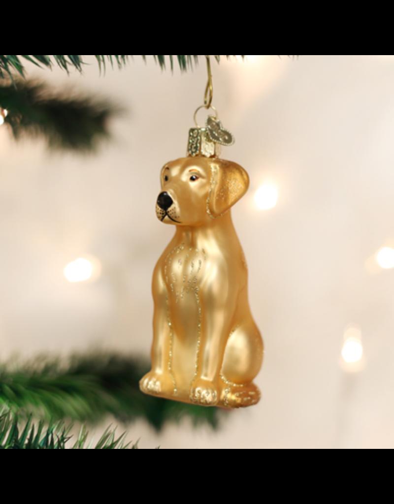 Old World Christmas Yellow Labrador