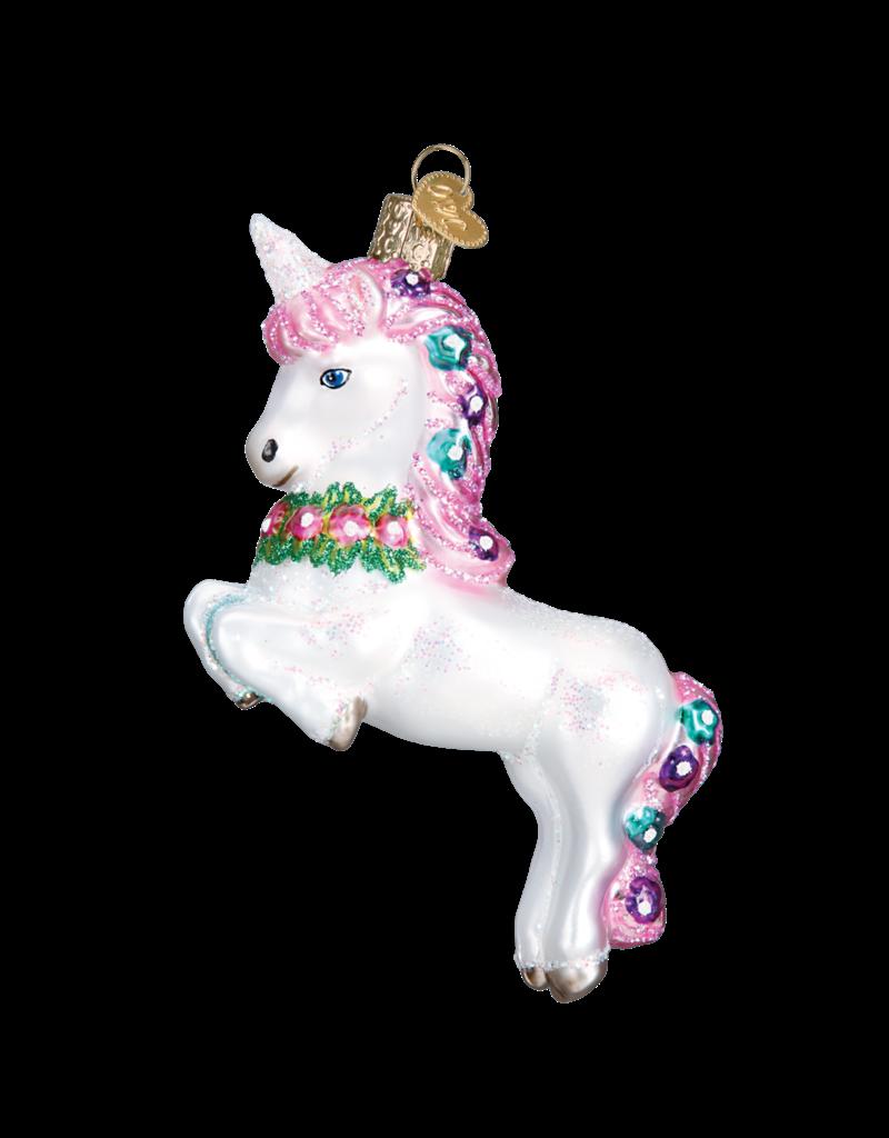 Old World Christmas Prancing Unicorn