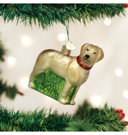 Old World Christmas Standing Yellow Lab