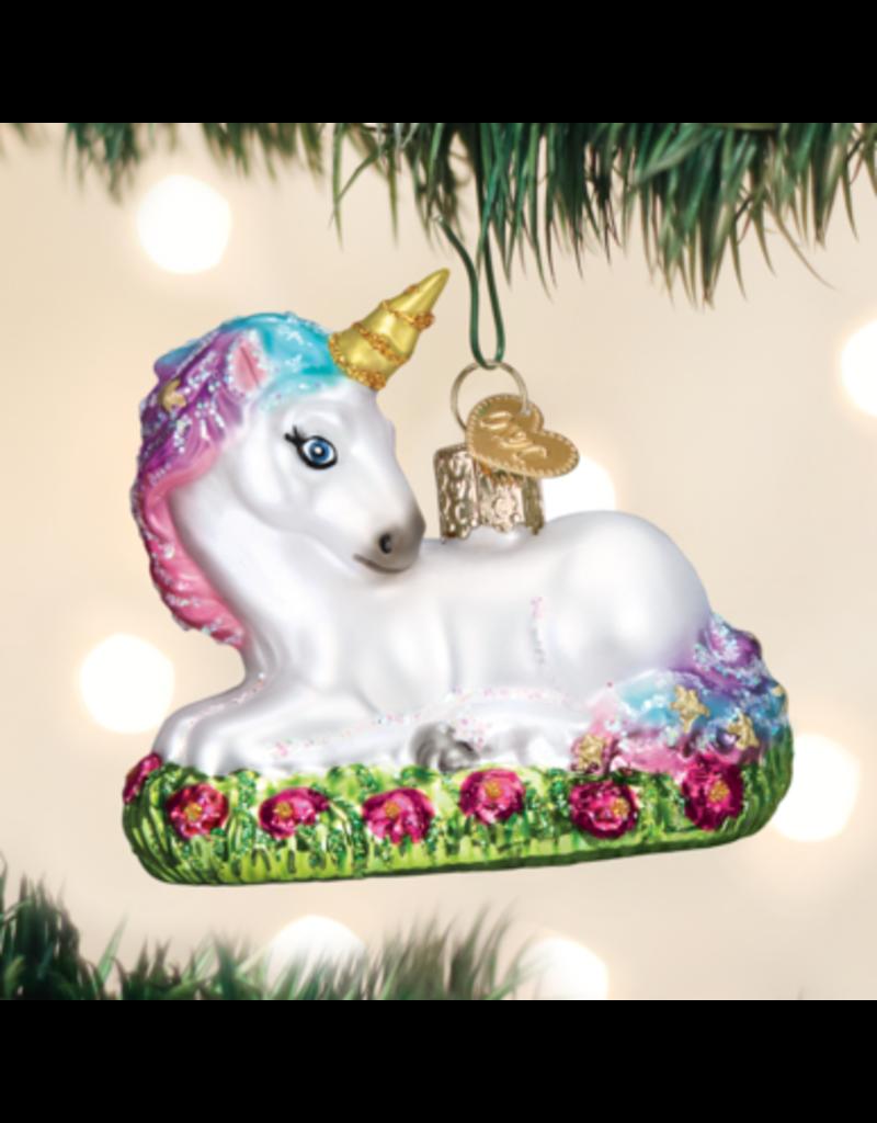 Old World Christmas Baby Unicorn