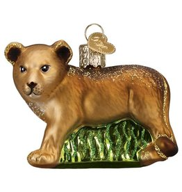 Old World Christmas Lion Cub