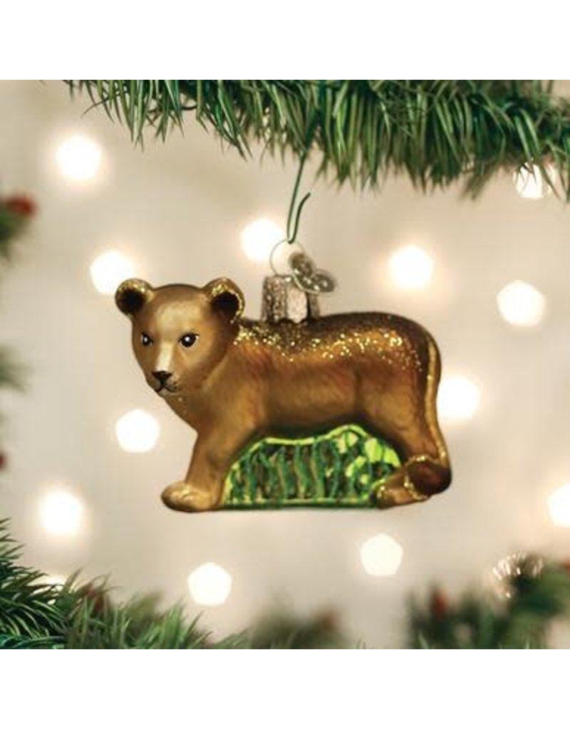 Old World Christmas Lion Cub
