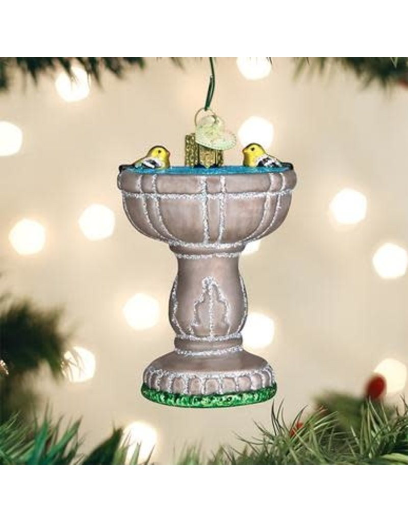 Old World Christmas Birdbath