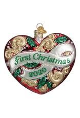 Old World Christmas 2020 First Christmas Heart