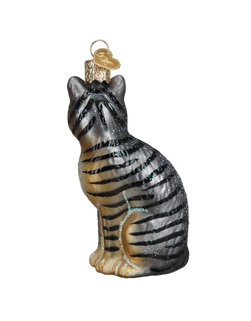 Old World Christmas Tabby Cat