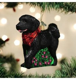 Old World Christmas Black Doodle Dog