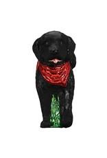 Old World Christmas Black Doodle Dog
