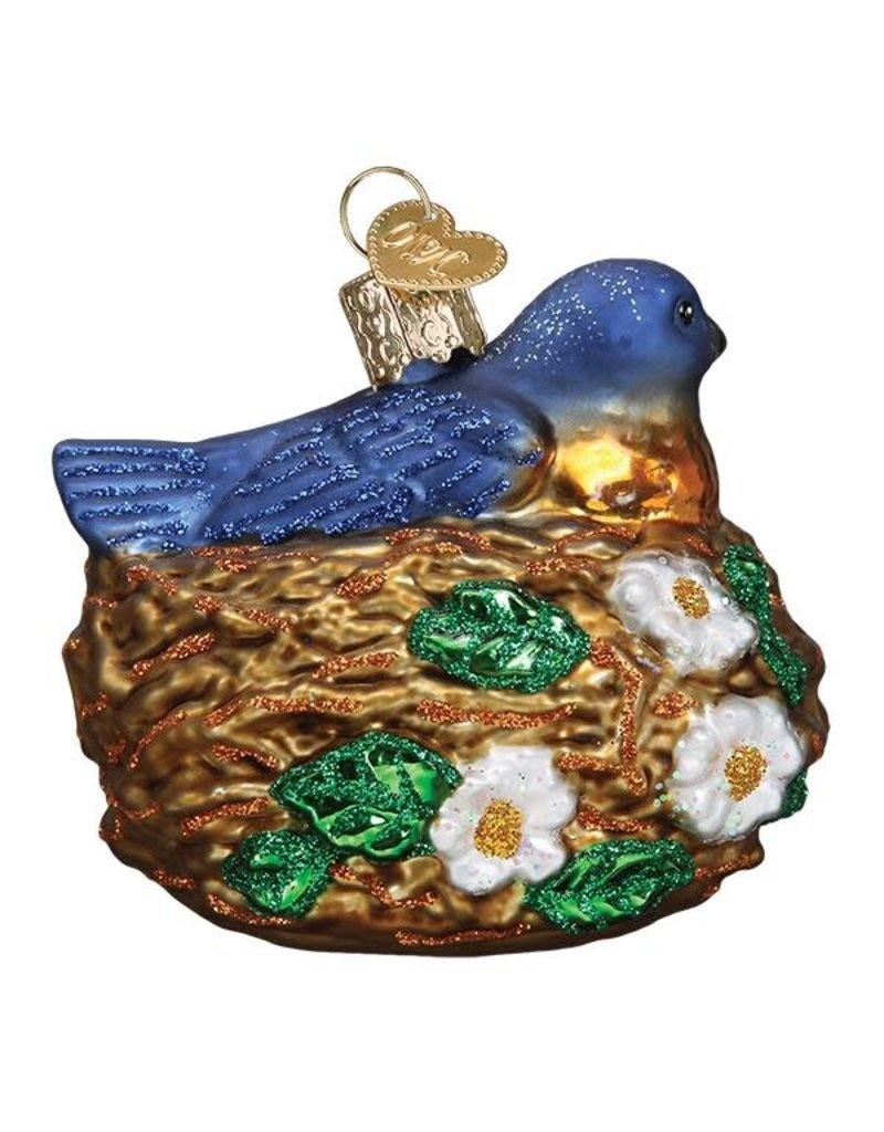 Old World Christmas Bird in Nest