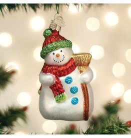Old World Christmas Snowman with Broom