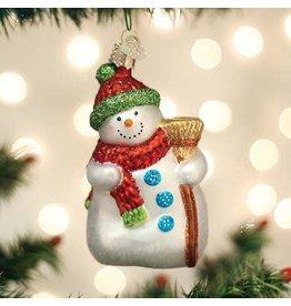 Old World Christmas Snowman with Broom