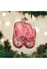 Old World Christmas Bunny Slippers