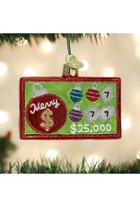 Old World Christmas Merry Ticket