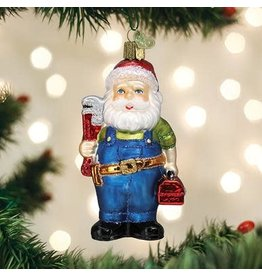 Old World Christmas Handyman Santa