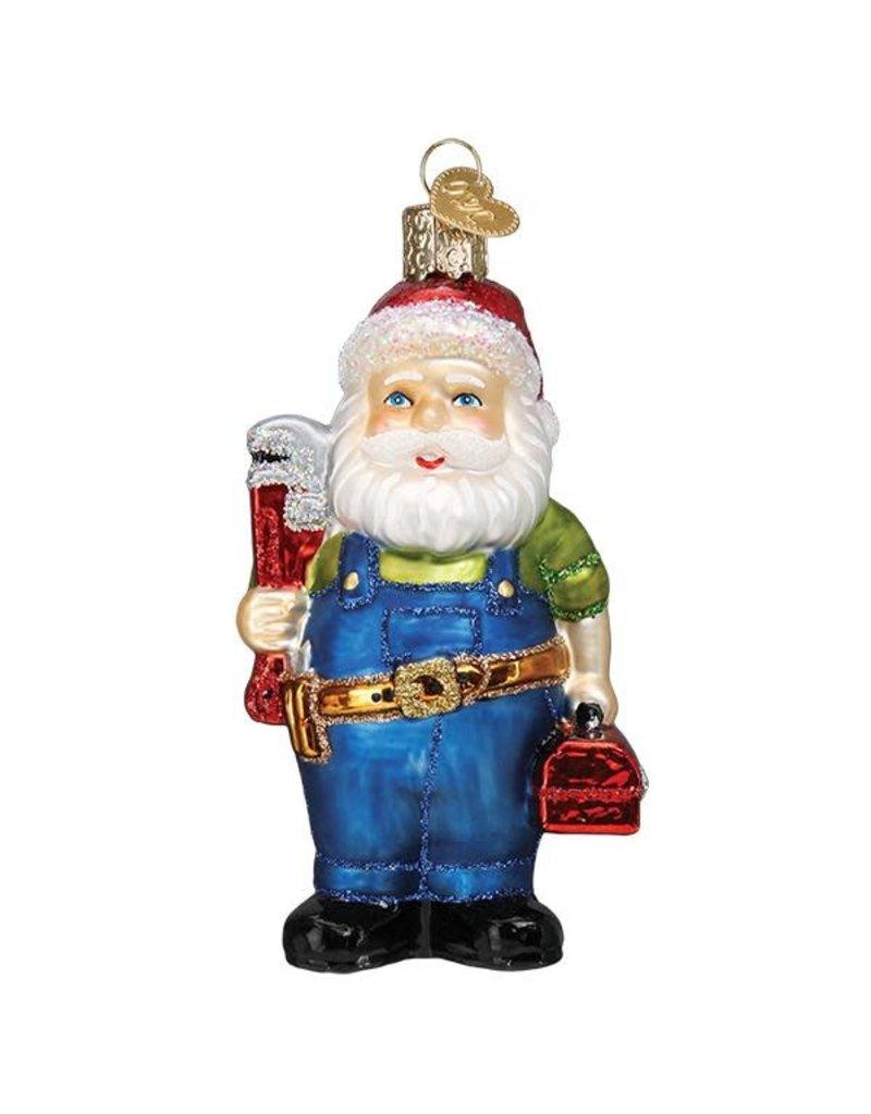 Old World Christmas Handyman Santa