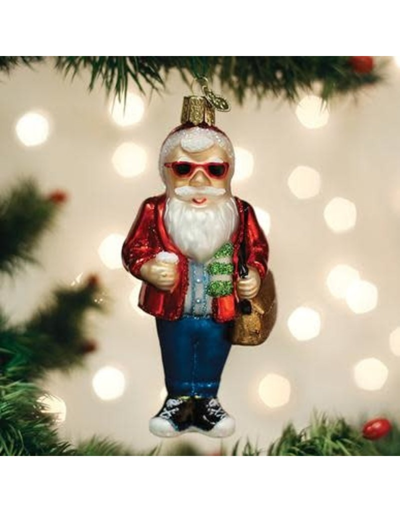 Old World Christmas Hipster Santa