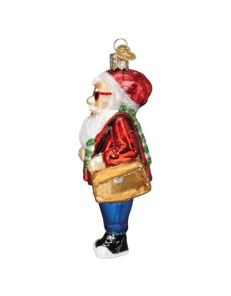 Old World Christmas Hipster Santa
