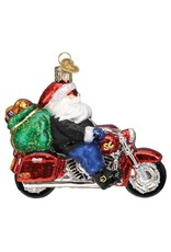 Old World Christmas Biker Santa