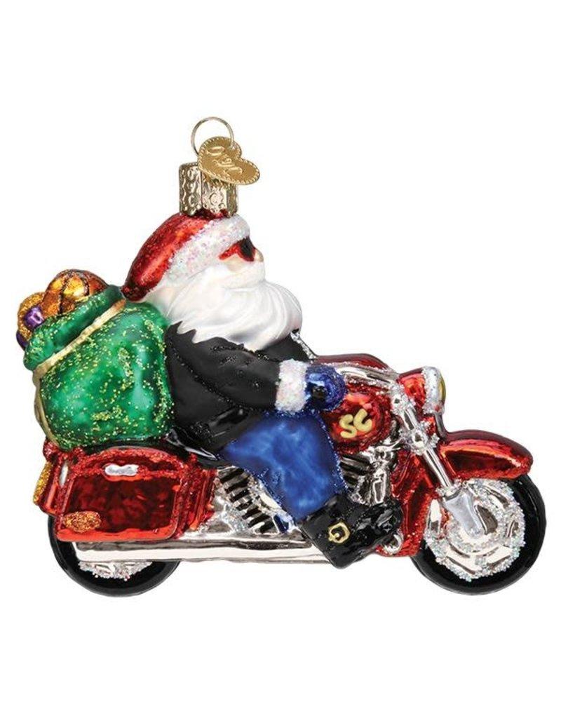 Old World Christmas Biker Santa