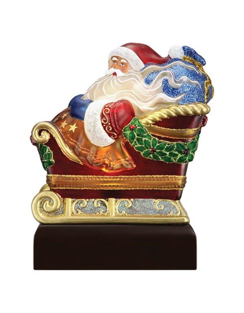 2020 Old World Christmas Santa in Sleigh Light