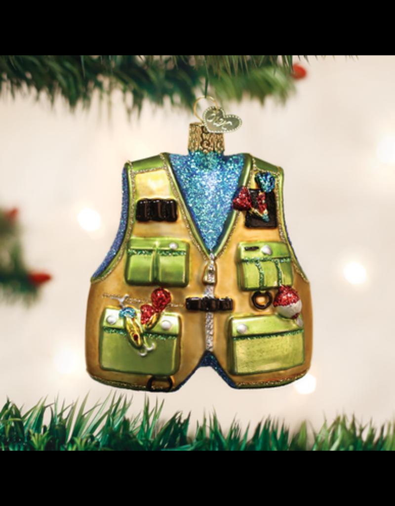 Old World Christmas Fishing Vest
